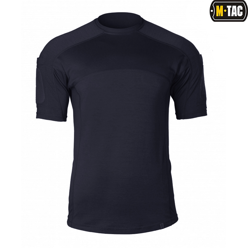 M-Tac футболка Elite Tactical Dark Navy Blue (вид спереди)